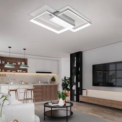 Lampa Sufitowa Dekoracyjna LED zmienna barwa światła kolor biały Modern 48W