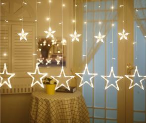 Łańcuch Swietlny Gwiazdy 2,5m B.Ciepła