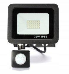 Naświetlacz LED 20W z czujnikiem halogen barwa biała neutralna